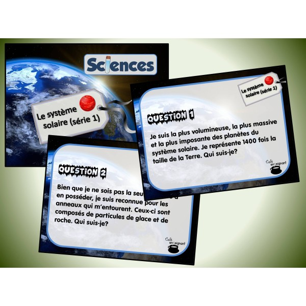 Cartes à tâches : Le système solaire 1
