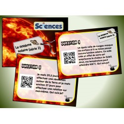 Cartes à tâches : Le système solaire 2 (QR)