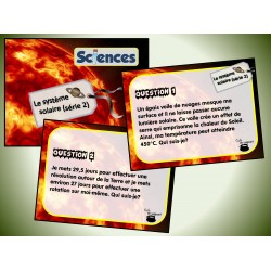 Cartes à tâches : Le système solaire 2