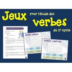 Jeux pour l'étude des verbes (2e cycle)