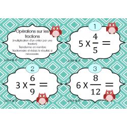 Multiplication d'un entier et d'une fraction