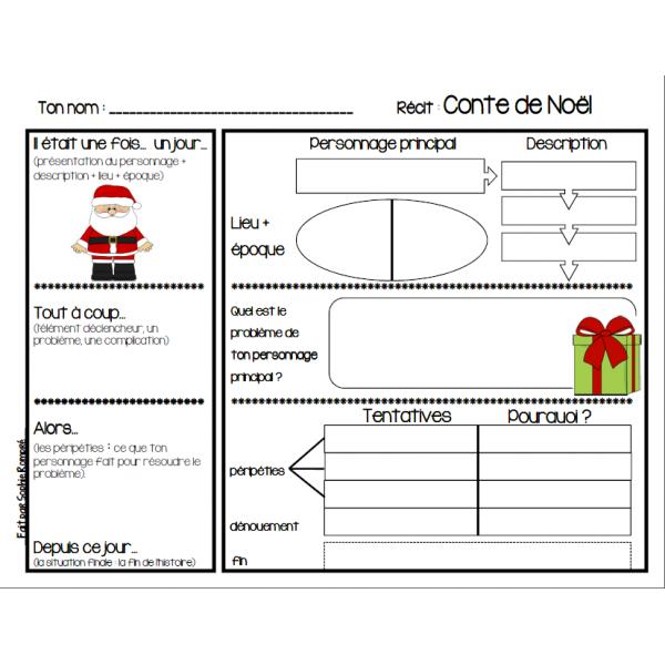 Plan écriture conte de Noël