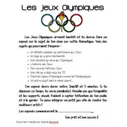 Exposé oral sur les Jeux Olympiques