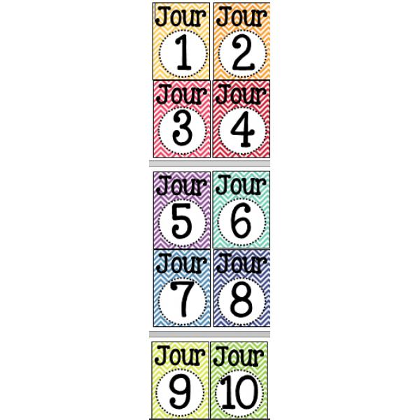 Mini-affiches pour les jours cycle (PDT)