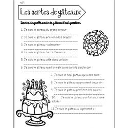 temps libre - les gâteaux