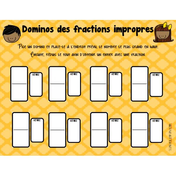 atelier - les fractions impropres