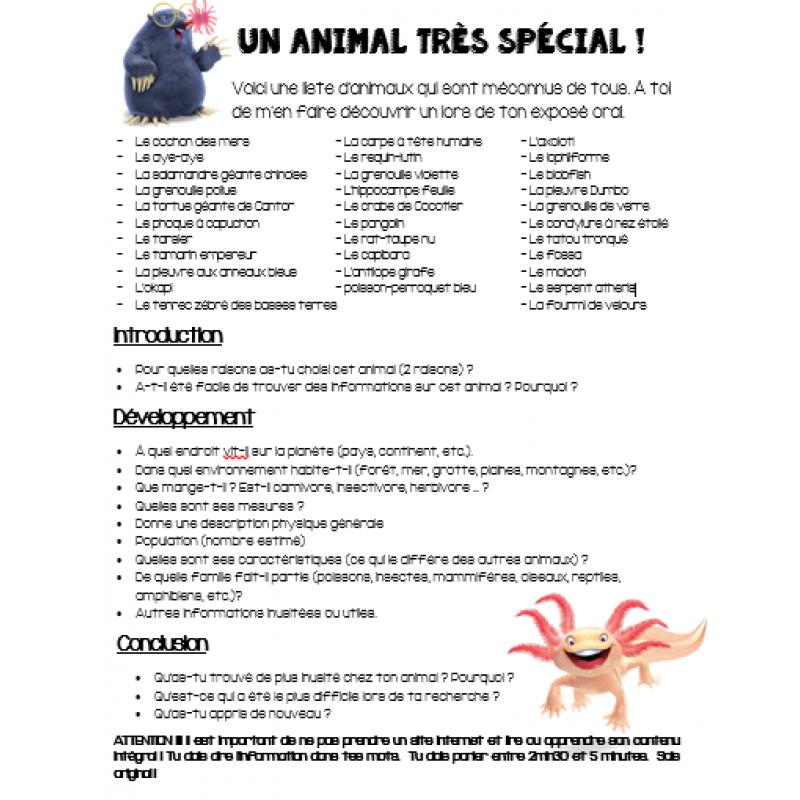 Expose Oral Un Animal Original