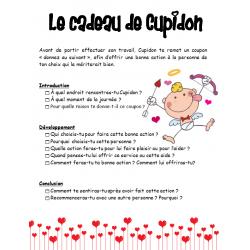écriture - le cadeau de Cupidon