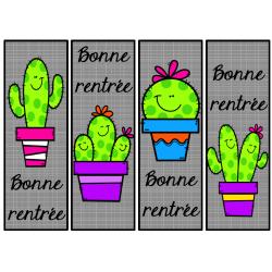 signet de la rentrée - cactus