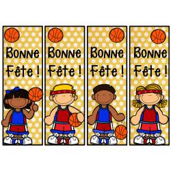 signet d'anniversaire basketball
