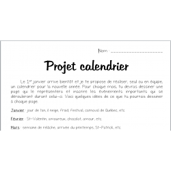 projet calendrier
