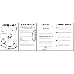 carnet de lecture septembre - album + recette