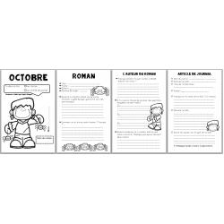 carnet de lecture octobre - roman + journal