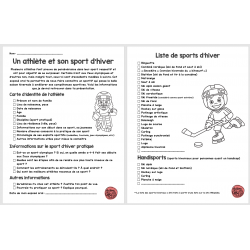 exposé oral - athlète et sport d'hiver