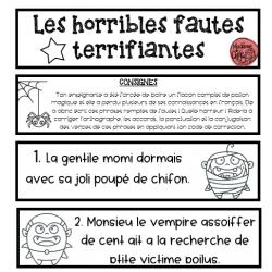 Halloween - cartes de phrases à corriger
