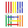 Fiches d'association de bâtons colorés