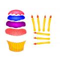 Cupcake anniversaire