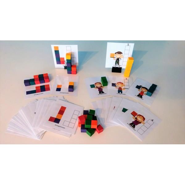 Fiches d'associations de cubes couleur