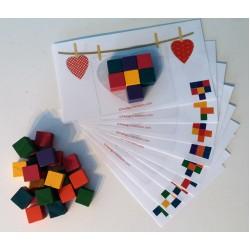 Remplis le coeur de cubes