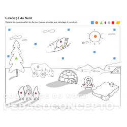 Coloriage du Nord – Hiver