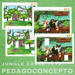 Jungle casse-tête encastrements