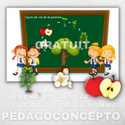 Cherche et trouve — Cycle de vie de la pomme