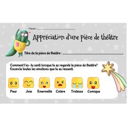 Fiche d'appréciation (théatre)