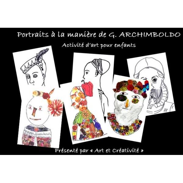 Portraits à la manière d'ARCHIMBOLDO, activité