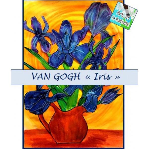 "VAN GOGH ""Iris"" coloriages"