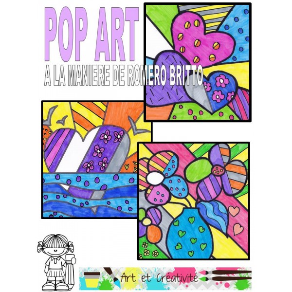 POP ART-Fête de Mères-Cartes à colorier