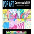POP ART Colombe de la PAIX- coloriages