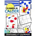 A la manière de CALDER, graphismes-coloriages