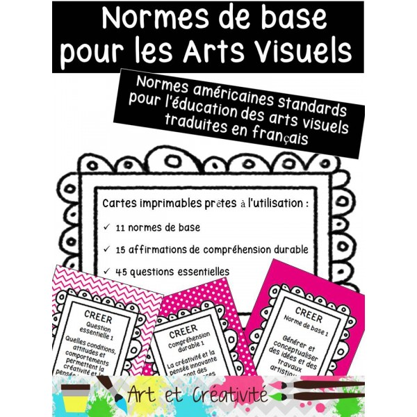 NORMES STANDARDS DE BASE en ARTS VISUELS