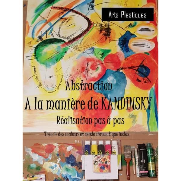 Art ABSTRAIT à la manière de KANDINSKY
