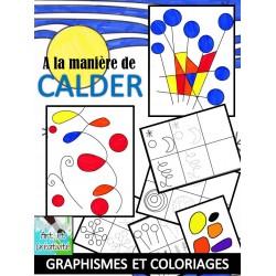 A la manière de CALDER - Graphismes et coloriages