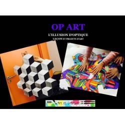 OP ART - ILLUSIONS D'OPTIQUE