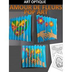 AGAMOGRAPHE - FLEURS POP ART, art optique