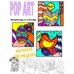POP ART, COLORIAGES DE PAQUES