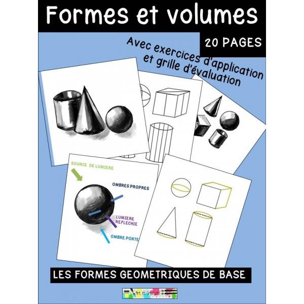 DESSINER des formes et des volumes-activité d'art