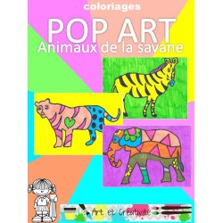 POP ART - Animaux de la savane
