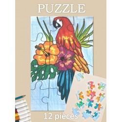 PUZZLE 12 pièces - Perroquet tropical