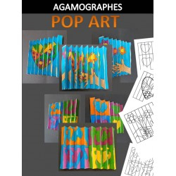 Agamographes fleurs et cœurs POP ART