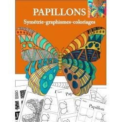 Papillons, symétrie, graphismes, coloriages