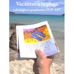 Pages de COLORIAGES - Vacances à la plage