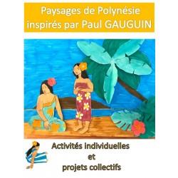 Paysages polynésiens inspirés par Gauguin