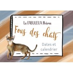 Calendrier et dates «Fous des chats»