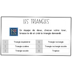 Défis maths: triangles et diagramme circulaire