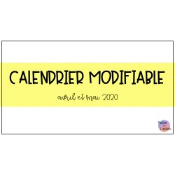 Calendrier modifiable - Covid-19