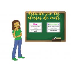 Activité découverte sur les classes de mots