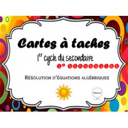 Résolutions d'expression algébriques